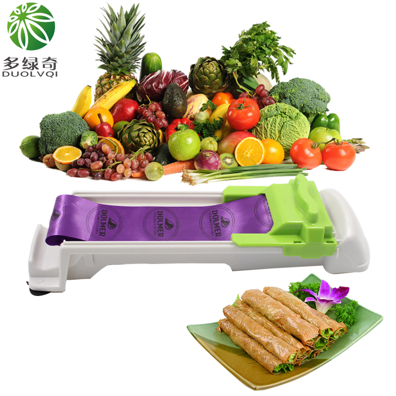DUOLVQI New,Vegetable,Meat,ManualRolling,Tool,Dolmer,Magic,Roller,Stuffed,Garpe,Cabbage Leave Grape Leaf Machine,Moedor De Carne