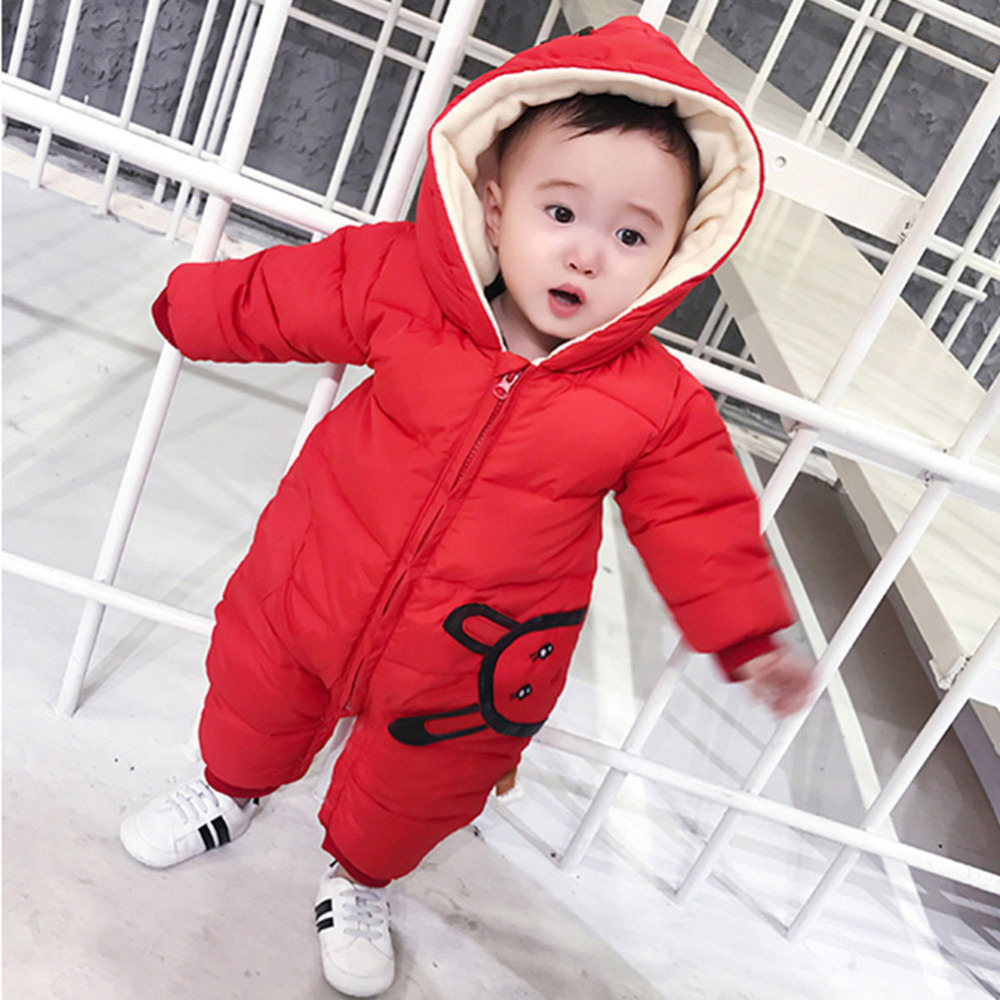 New Autumn Winter Jumpsuit Baby Newborn Snowsuit Boy Warm Romper Down Cotton Girl clothes newborn autumn winter clothes baby romper clothing long sleeve cotton animal baby bebe onesie girl boy cartoon warm jumpsuit