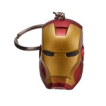 Marvel Comics Retro The Avengers Iron Man Mask Keychain Superhero Trendy Alloy
