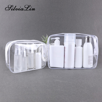 Bags Toiletry-Bag Makeup-Bag Travel-Organizer Beauty-Case Clear Transparent PVC