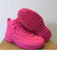 NEW AIR US JORDAN 12 XII Women Basketball Shoes wool the master University  Blue GS pink. 8 Colors Available 532a499e3