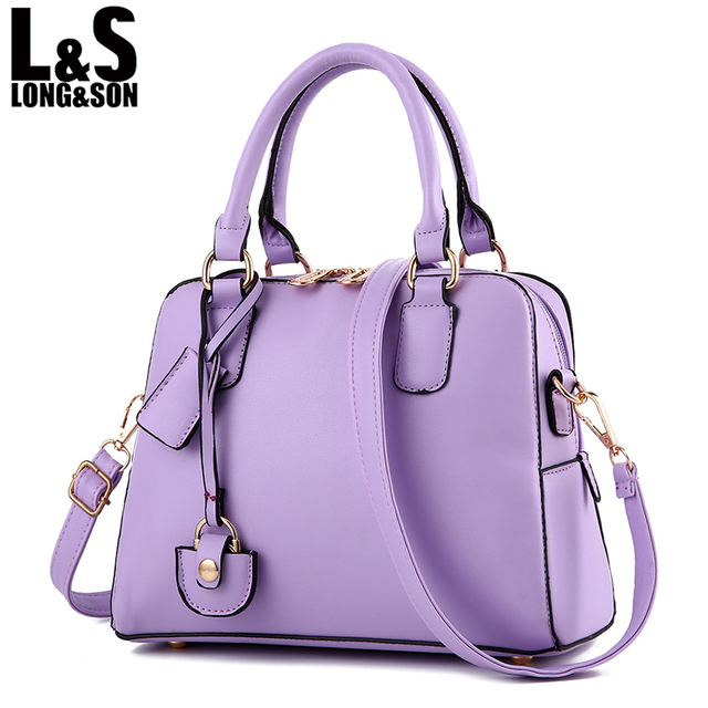 Women Bag 2017 Candy Color Trendy Handbags Female Famous Brands Luxury Designer  Handbag High Quality Leather Tote Bags Ladies 75a65de467972