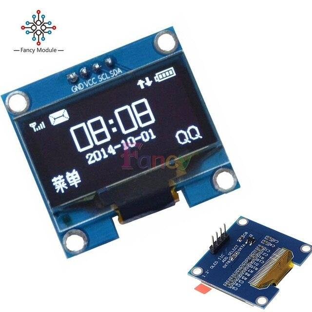 Módulo OLED de 1,3 pulgadas 128X64 Blanco sobre negro 3 cables SPI 4 cables interfaz IIC LED controlador de pantalla SH1106