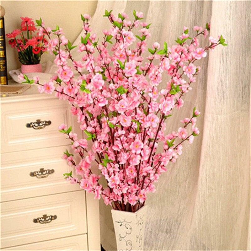 1pcs 65cm Artificial Flowers Peach Blossom Simulation Flower For Wedding Decoration fake Flowers Home Decor