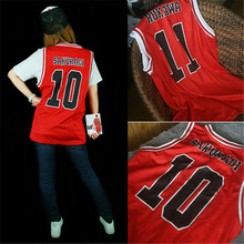 Man Basketball Jersey cosplay Slamdunk vest basketball shirt number Sleeveless red Rukawa Kaede SAKURAGI HANAMICHI