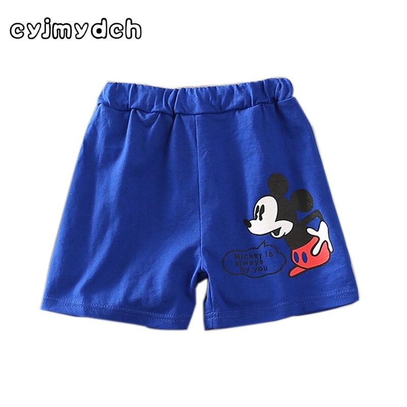 Cyjmydch Casual Summer Cotton mickey shorts children boy Shorts girls Summer Beach Shorts baby boy clothes