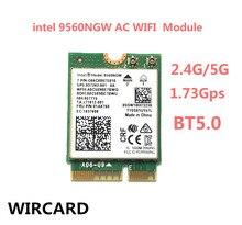 Wircard Kép AC 9560 Cho Intel 9560NGW 802.11ac NGFF Phím E 2.4G/5G 2X2 Card Wifi Bluetooth 5.0