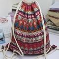 Japão Mochila designer ladies Gypsy Bohemian Boho Chic harajuku bagpack mochilas Com Cordão Mochila Saco de escola Étnica Do Vintage