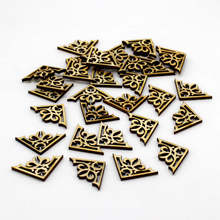 50pcs/lot  Wooden Chips buttons for Scrapbooking Embellishments Festival Home Party Handmade diy supplies Accessories