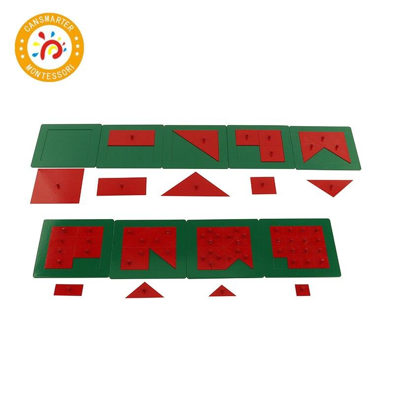Jouet bébé Montessori métal Fraction cercles carré Triangle éducation précoce préscolaire enfants Puzzle savoir forme jouet mathématique