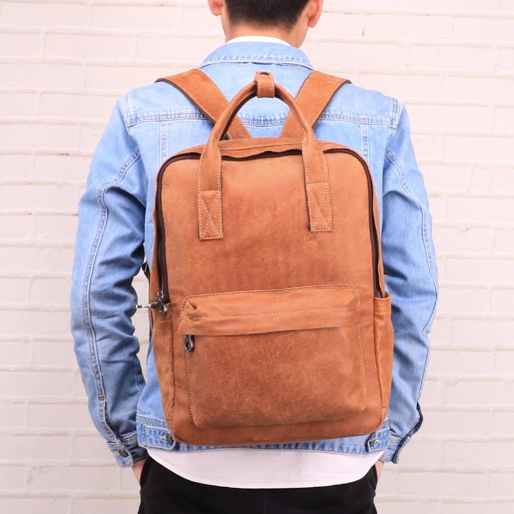 14Laptop Bag Fashion Men Backpack Big Capacity Male Mochila Genuine Leather Travel Bag Functional Bags Mochila Man14Laptop Bag Fashion Men Backpack Big Capacity Male Mochila Genuine Leather Travel Bag Functional Bags Mochila Man
