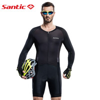 Santic Для мужчин Трикотаж Велоспорт трикотаж Велоспорт Pro Fit гонки итальянский 4D мягкий дышащий UV400 M6C03010H