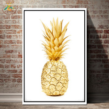 GOLD PINEAPPLE Wall Art HD Prints Canvas Painting Picture And Poster Scroll Nordic Decoration Home
