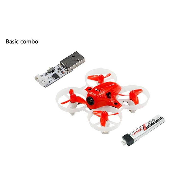 LDARC TINY 6X 65mm Mini FPV Drone Basic Version F3 Betaflight 25mW 16CH VTX 716 Brushed Motor w DSM/XM/RX2A/RX800 PRO/FM800 RX ldarc q25g2h5 8g 25mw 16ch fpv vtx 199c combo