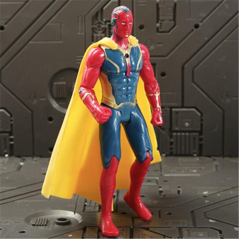Marvel Мстители 3 Бесконечность войны фильм Аниме Супер Герои Капитан Америка, железный человек, Халк Тор супергерой Фигурки игрушки - Цвет: Vision