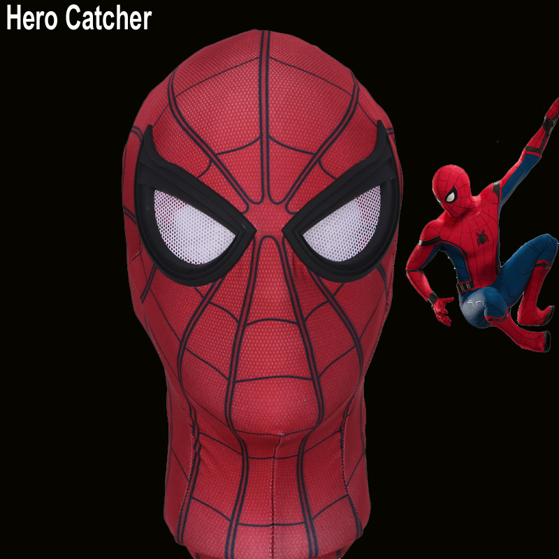 Hero Catcher Tom Holland Spiderman Mask HomeComing Spiderman Mask 2017 Spiderman Mask Homecoming Mask With Unbreakable Eyes