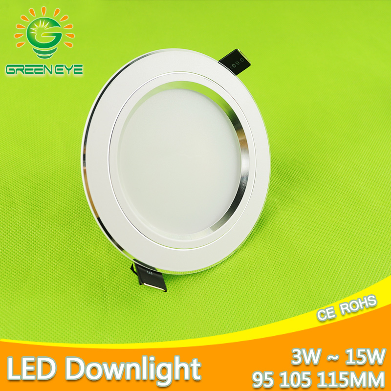 LED Downlight Silver White Frosted Surface 3w 5w 7w 9w 12w 15w AC 220v 110v Round Recessed Ceiling Down Light Indoor Lighting 20pcs waterproof driverless dimmable led downlight 5w 7w 9w 12w 15w ceiling lamp light lighting energy saving down lamp ac 220v