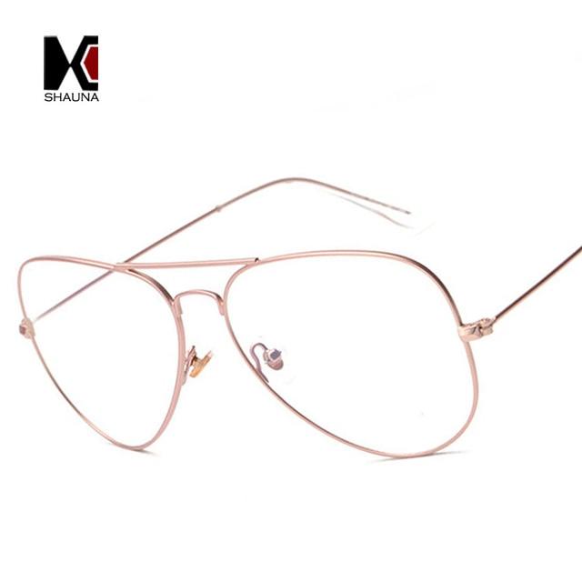 025257f1484 SHAUNA Classic Big and Small Size Women Pilot Frame Glasses Retro Men  Original Clear Lens Glasses Frog Reading Eyewear