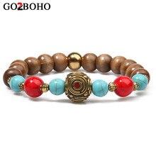 d6a08498f475 Go2boho Nepal pulseras de oración budista tibetana pulsera encanto pulsera  de las mujeres de minorías étnicas de la joyería de l.