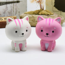 LeadingStar Cartoon Cat Squishy Slow Rising Phone Straps Cute Kitten Soft Squeeze Bread Charms Scented Kids Toy(China)