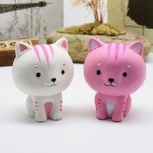 LeadingStar gato de dibujos animados Squishy lento aumento teléfono correas lindo gatito suave apretón pan encantos perfumado niños juguete