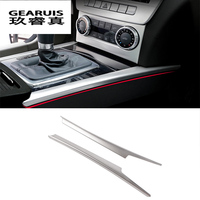 Stainless Steel Gear Shift Panel Decorative Strip Auto Cover Trim For Mercedes Benz C Class W204