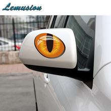 1Pair 3D Cat Eyes Car Stickers Truck Head Rearview Mirror Window for Hyundai i30 Opel astra h j Renault duster car accessories