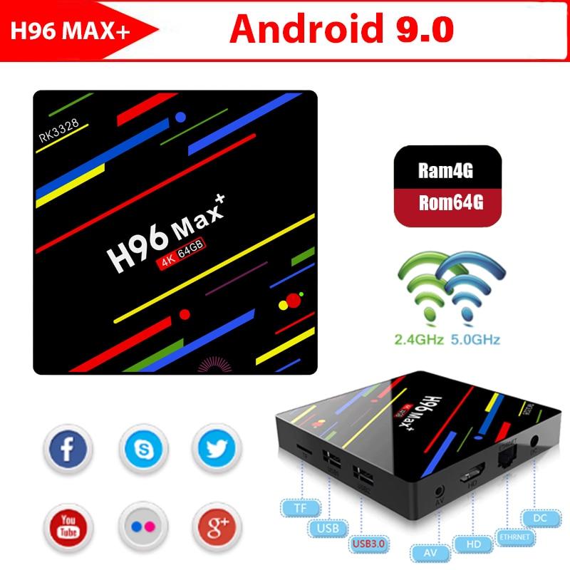 H96 MAX PLUS Smart TV BOX Android 9 0 OS 4GB RAM 32 64GB ROM RK3328