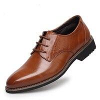 NEW Handmad 100 Genuine Leather Men Oxfod Shoes Lace Up Casual Business Men Shoes Brand Men