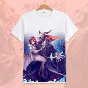 Image 3 - New Anime Mahoutsukai no Yome  Cosplay T shirt Hatori Chise T Shirt cotton Short Sleeve Tops Tee