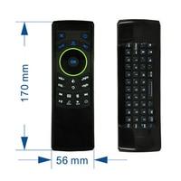 أحدث متعددة الوظائف 2.4 جرام اللاسلكية يطير الهواء الفأر ir التحكم عن qwerty للتلفزيون مربع/pc/وسائط لاعب/htpc/التلفزيون الذكية