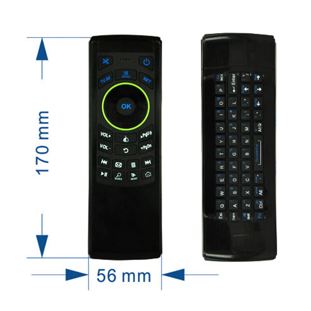 Newest Multifunctional 2.4G Wireless Fly Air Mouse IR Remote Control QWERTY Keyboard For TV Box/ PC/ Media Player/HTPC/Smart TV fly e135 grey tv