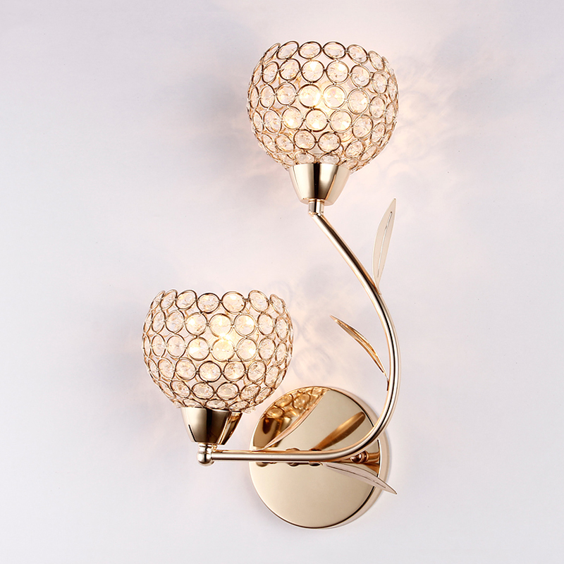 modern creative golden crystal wall lamp bedroom bedside lamp aisle corridor sconce living room wall light led creative personality art bedroom lamp bedside lamp white light wall lamplighting living room coffee aisle corridor