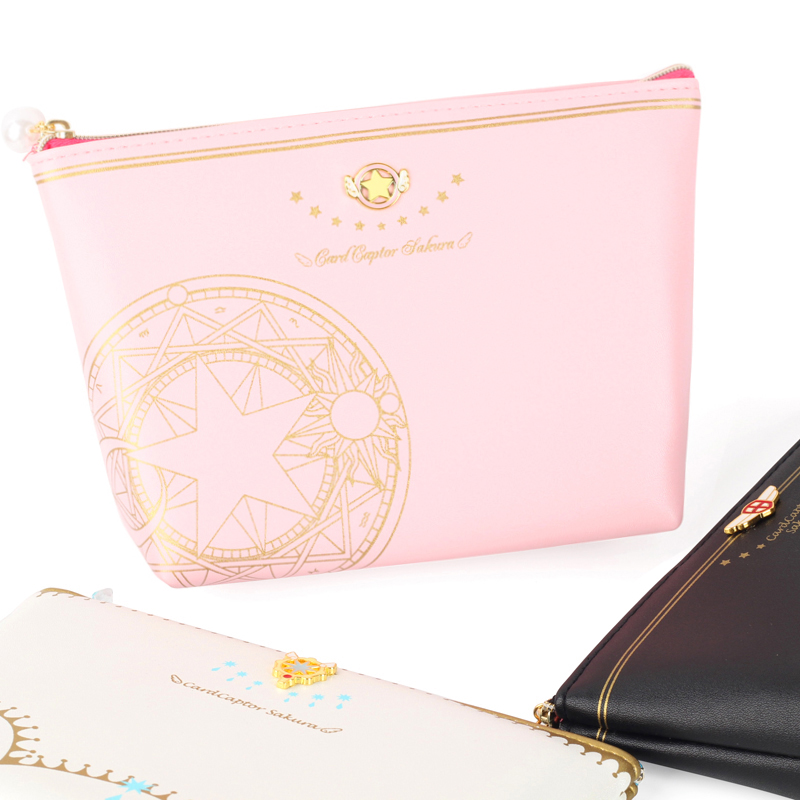 Anime Cardcaptor Card Captor SAKURA KINOMOTO Cakura Cards Cosmetic Bag Women Clutch Bag Accessories Cosplay
