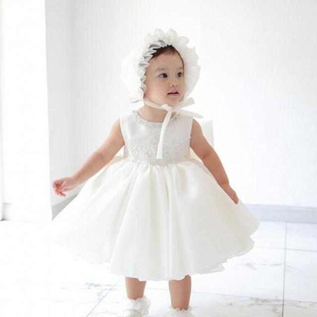 Vorschau von Top Qualität zarte Farben US $23.22 45% OFF 1 jahr Geburtstag Baby Mädchen Kleider Nette Weiße Party  Vestido Kleidung 2019 Kleinkind Baby Mädchen Kleidung 3 6 8 12 18 24 monat  ...
