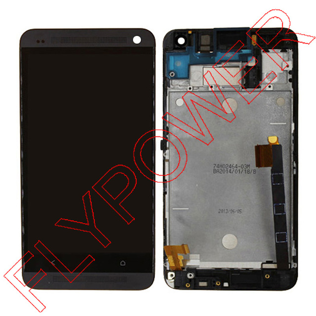 US $45 0 |For HTC ONE M7 Dual Sim 802t 802D 802W Lcd screen display with  black touch screen digitizer Assembly + Frame