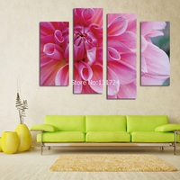 2017 Direct Selling Hot Sells 4 Panels Of Flower Painting Canvas Wall Art Picture Home Decoration Living Room Print On Modern