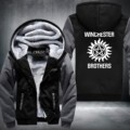 New Supernatural Zip Hoody Saving People Hunting Things Hooded Jacket Thick Coats hoodie Winchester Brothers USA Size