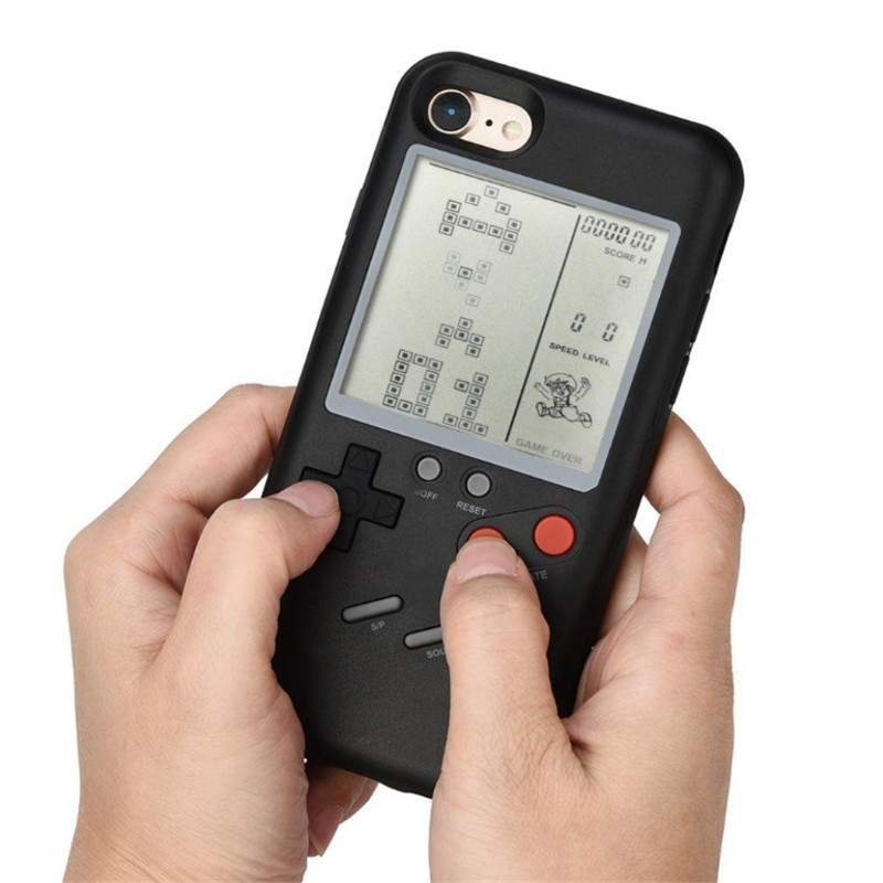Classic Tetris Unique Multi Phone Cases For Iphone X 6plus 6 7 7plus 8 8plus Handheld Retro Protection Game Cover Gift For Child