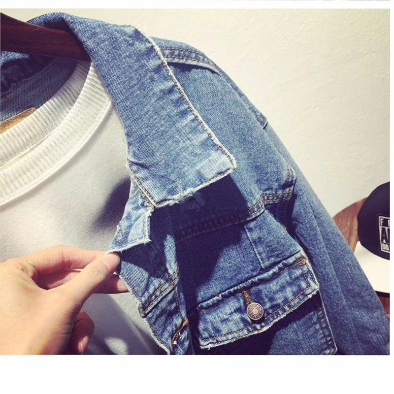 Women Jean Jacket Hot Sale Casual Popular Autumn Regular Coat Korea Girls Loose Outwear Simple Fashion Women\'s Clothing Cheap (4)