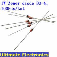 100 pçs/lote 1W Diodo Zener FAZER-41 1N4728 ~ 1N4748 3.3V ~ 22V 1N4729 1N4730 1N4731 1N4732 1N4733 1N4734 1N4735 1N4744 1N4746 1N4749