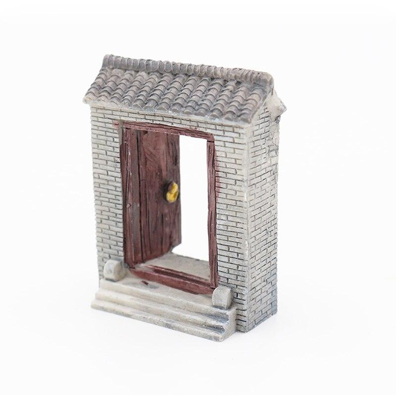 mini open the door house doll resin craft miniature garden decor terrarium figurines dollhouse supplies micro garden landscape in figurines miniatures - Open Garden Decor