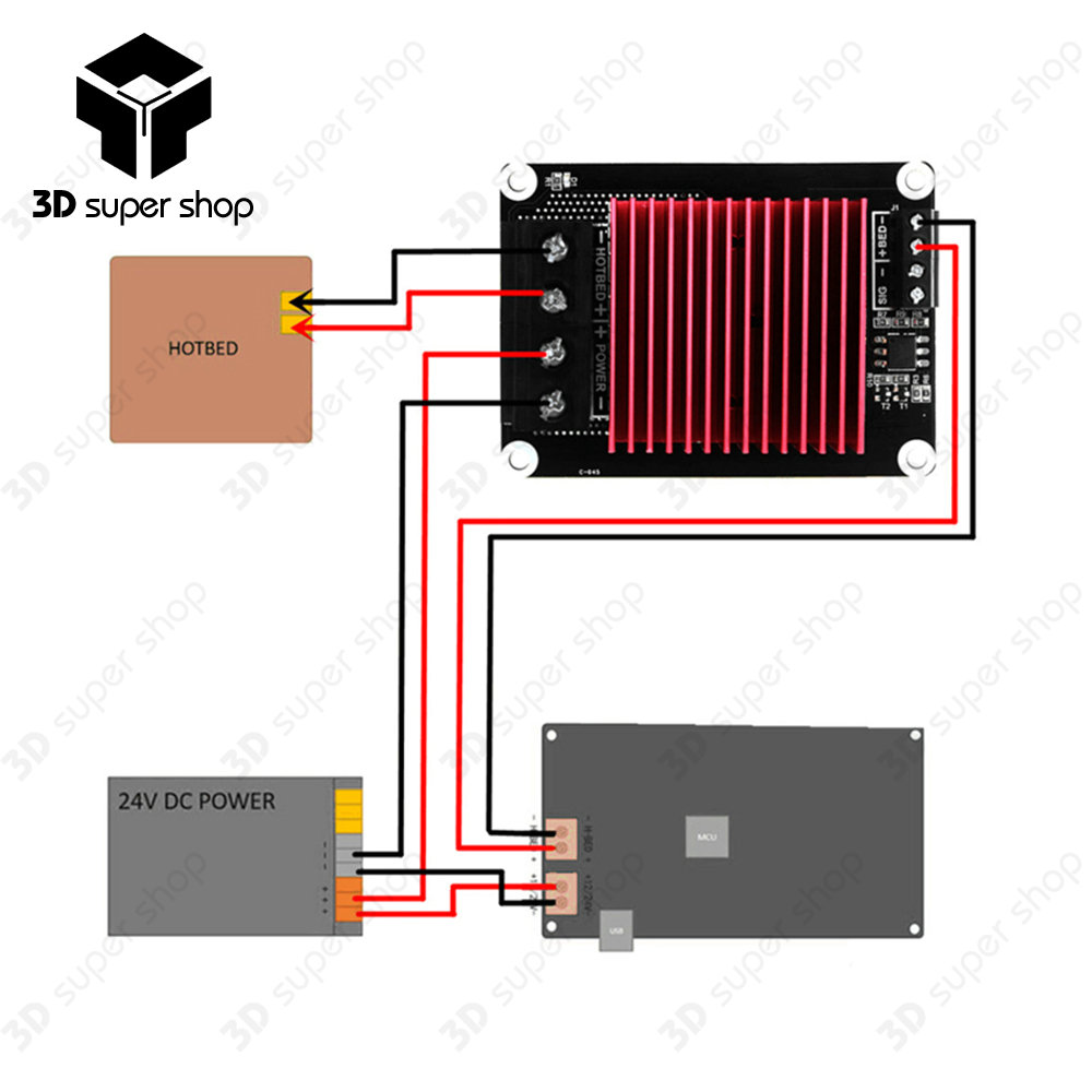 On sale 30A Heating-Controller MKS MOSFET for Heat Bed/Extruder MOS Module Exceed 30A Support Big Current 3D Printer Parts