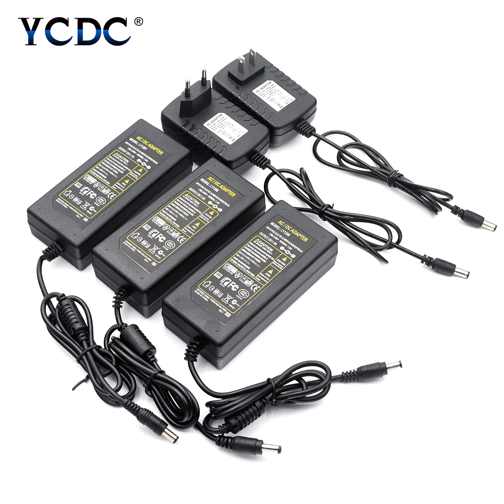 TSLEEN AC DC Adapter 100V-240V to 5V Power Supply Transformer Charger 3A 5A 6A 8A Driver for LED Lights Strip EU UK AU US Plug ac 100v 240v to dc 12 v 1a 2a 3a 5a 6a 8a lighting transformers power supply 12 volt adapter converter charger led strip driver