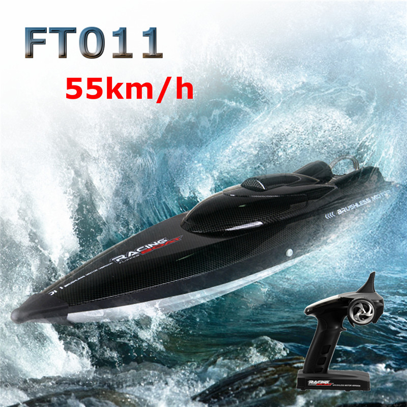 Feilun FT011 65CM 2.4G Water Cooled Brushless Motor RC Racing Boat with Remote Control цена