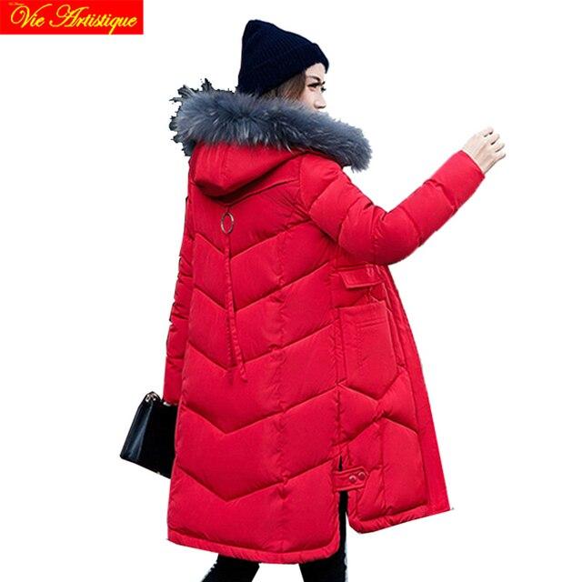 Зимняя куртка женская парка FEM мне Hiver женские длинные пальто Куртки Большие размеры черный с интимным меховой капюшон jazzevar miegofce ва