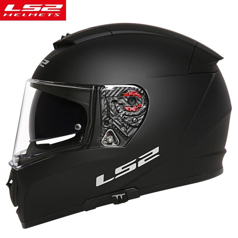 LS2 FF390 moto casque avec anti-brouillard pinlock bouclier plein visage moto racing double lentille casque homme DOT LS2 moto casques