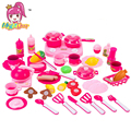 MylitDear Classic Plastic Cooking Toys For Children 46PCS Pretend Play Cutting Food Set Kids Kitchen Toys