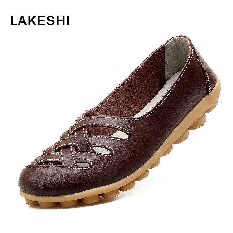 Casual Shoes Women Loafers Fashion Round Toe Women Flats Shoes Plus Size Ladies Driving Shoes