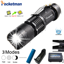 Brightes Mini L2 LED Flashlight Q5 T6 LED